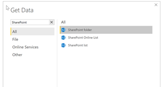 Using the SharePoint folder connector